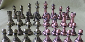 High quality metal chess pieces