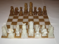 Antique chess from onyx - ART Cr