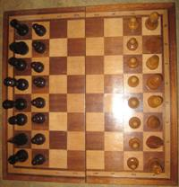 Chess large varnished - ART P-4