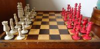 Antique chess of the 19th century. Carved bone