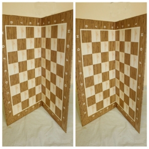 Two Chess Tournament Boards with International Blitz Game Rules. 40x40 cm + 47x47 cm